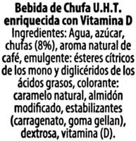 Bebida de chufa con sabor a café - Ingrédients - es