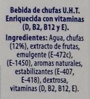 Bebida vegetal de chufa - Ingredientes - es