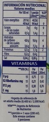 Bebida vegetal de chufa - Informations nutritionnelles - es