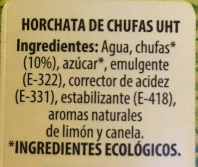 Horchata de Chufa - Ingrédients