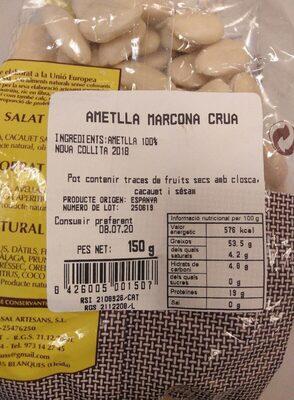 Ametlla marcona crua - Nutrition facts