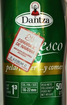 Espárragos blancos Origen Navarra - Ingredientes