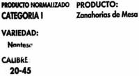 Zanahorias - Ingredients
