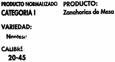Zanahorias - Ingredientes