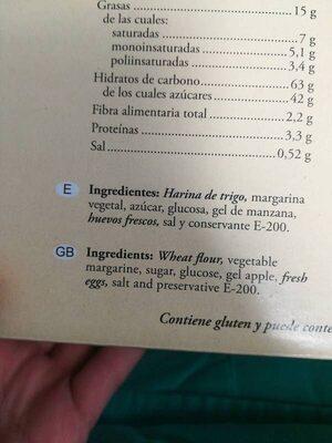 Hojaldres de Astorga - Ingrédients - es