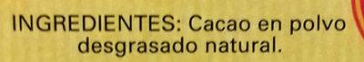 Cacao puro 100% desgrasado - Ingredients - es