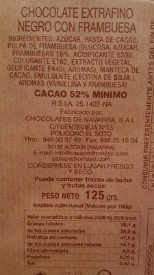 Orbea chocolate negro con frambuesas - 3