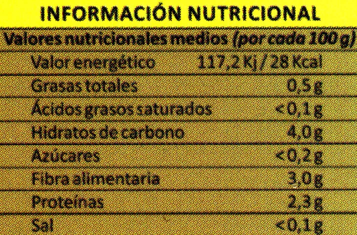 Setas angula de monte - Informations nutritionnelles - es