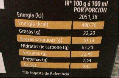 pastas almendradasnnu - Información nutricional - es