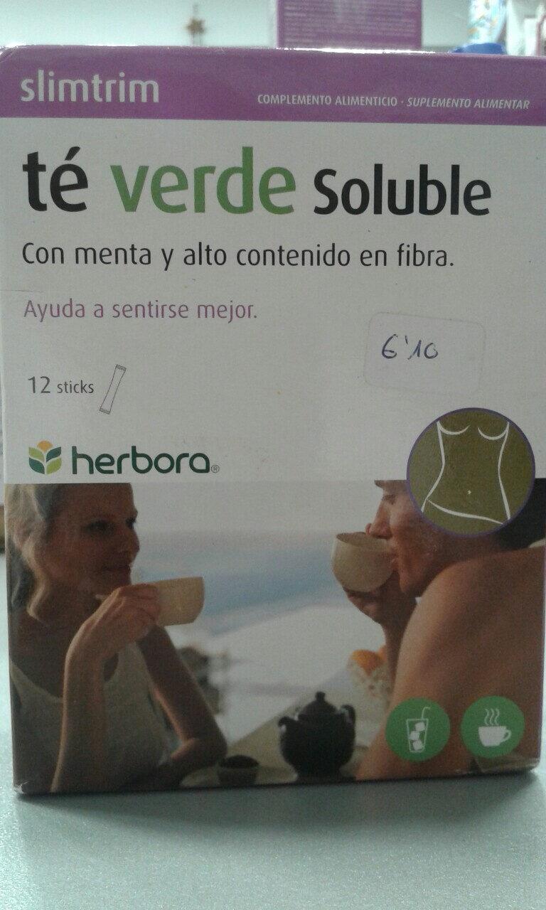 Té verde soluble con menta y alto contenido en fibra - Producto - es