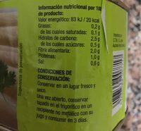 Esparragos Blancos - Nutrition facts - es