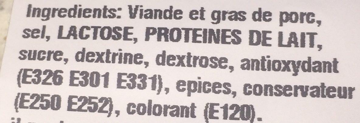 Fuet Catalan - Ingrédients