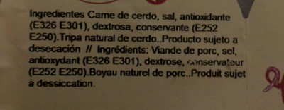 Baiona séché 1/2 - Ingredients - es