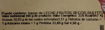 Baiona séché 1/2 - Informació nutricional
