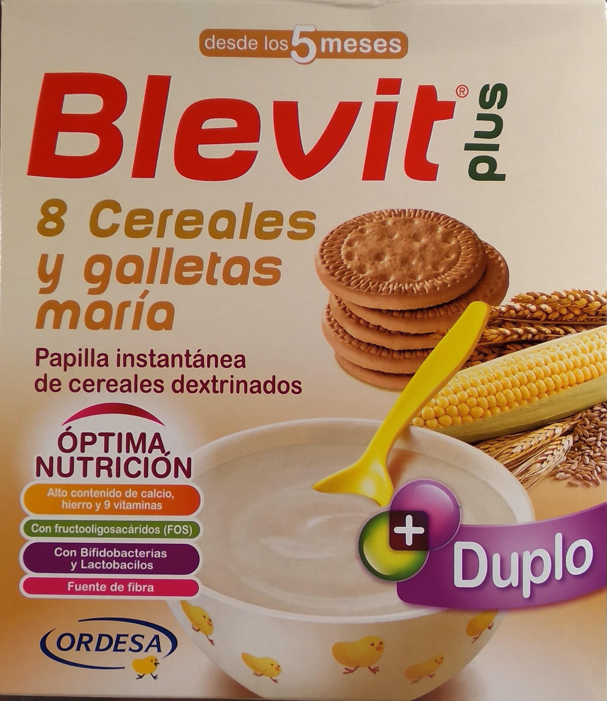 Blevit plus 8 cereales y galletas maría - Producto