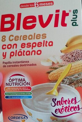 Blevit plus 8 cereales con espelta y plátano