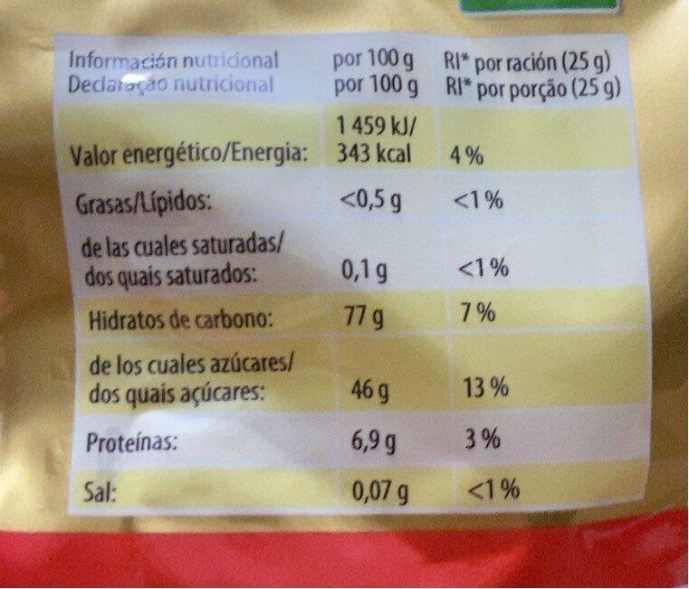 Ositos D'oro 100 GRS Estuche 18 Bolsas - Información nutricional - fr