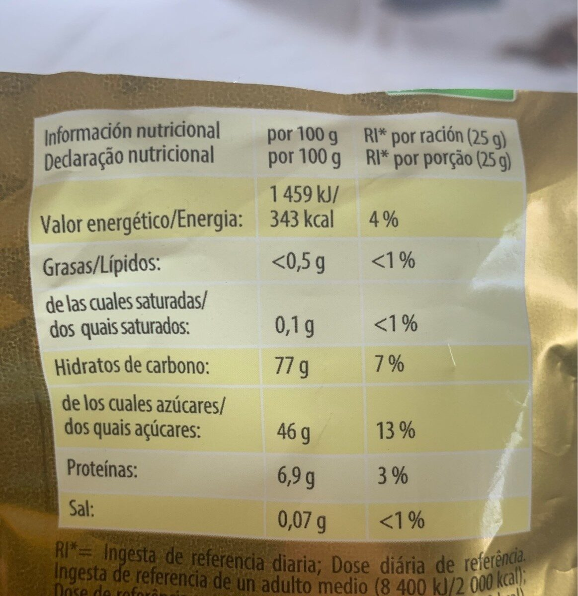 Haribo Ositos De Oro - Nutrition facts - fr