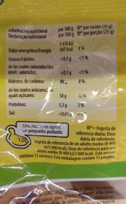 Gajos - Nutrition facts - es