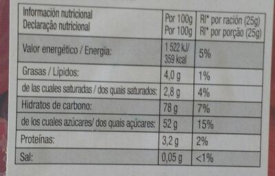 Favoritos Red & White - Información nutricional