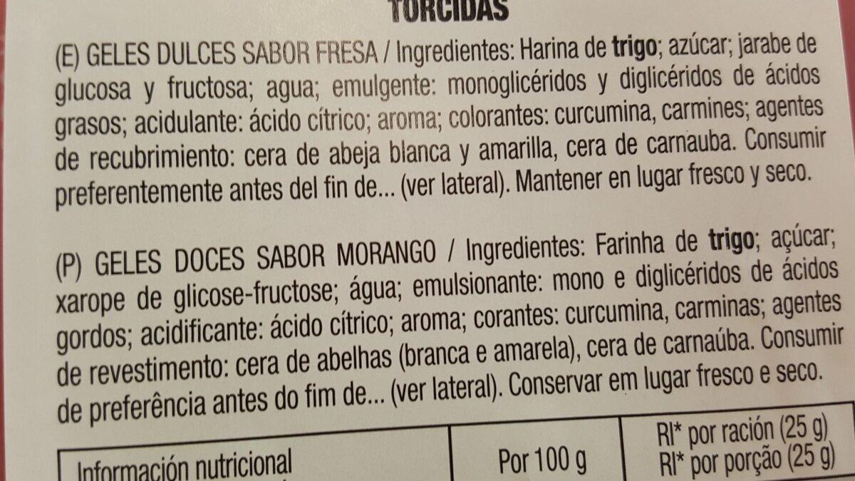 Mega Torcidas - Ingredients