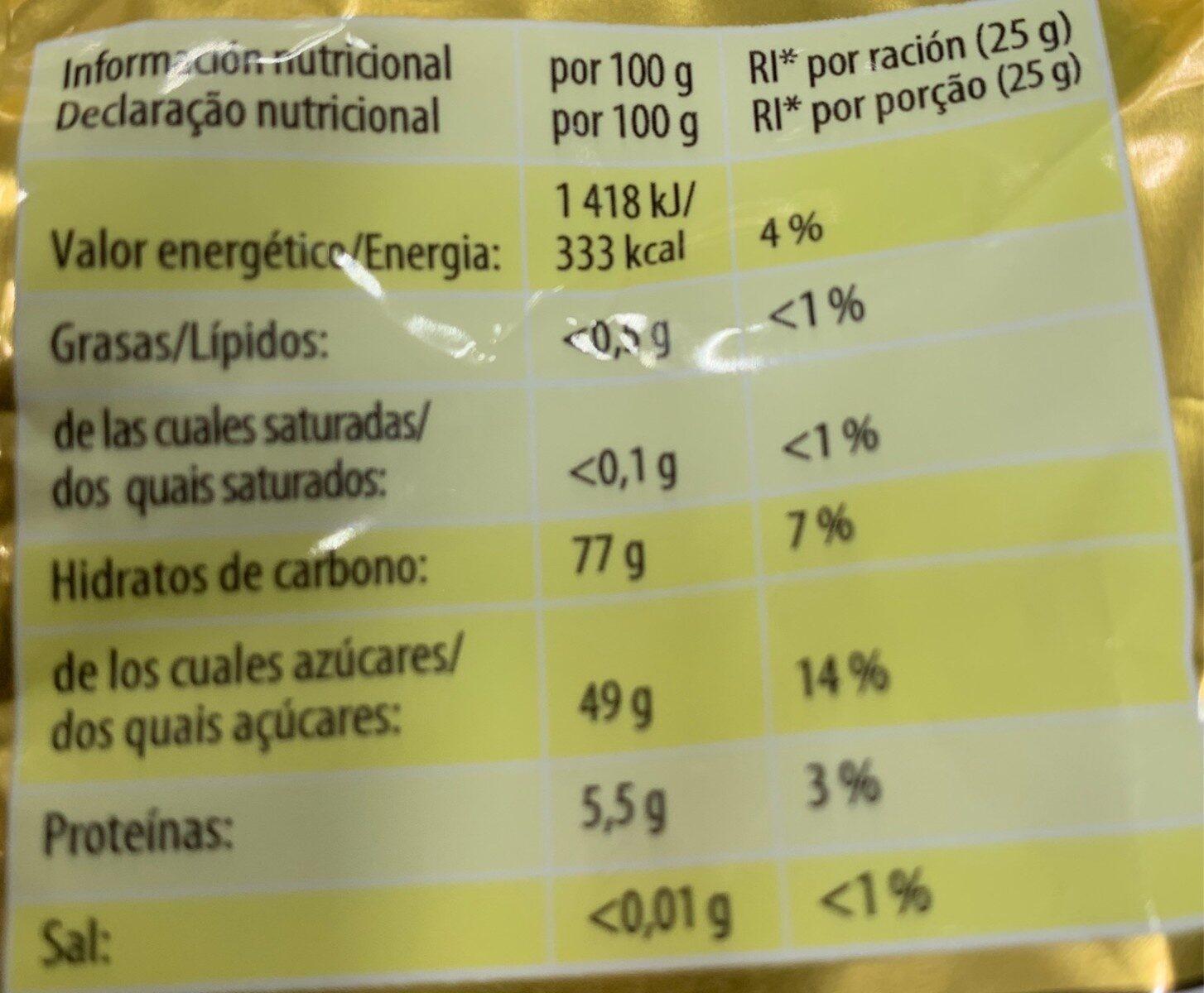 Haribo ositos de oro recubiertos de azúcar - Nutrition facts