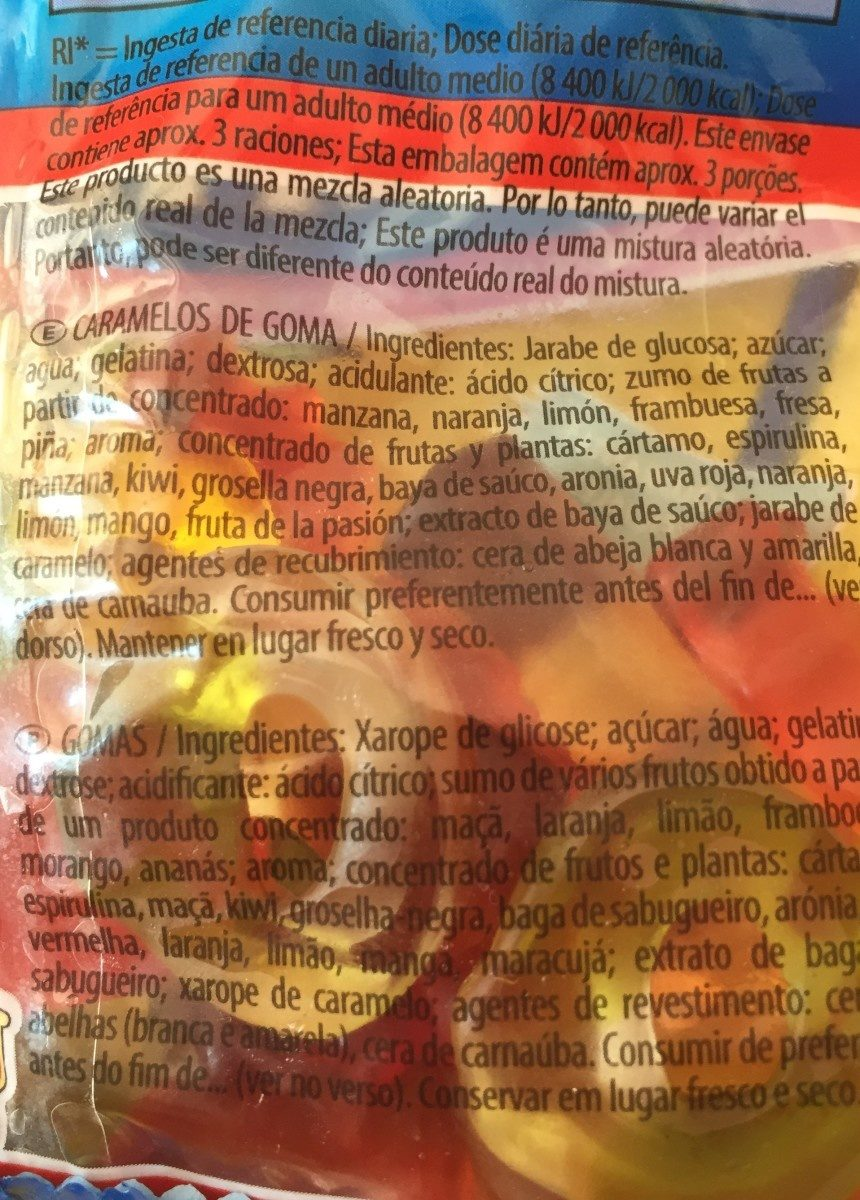 Starmix 90 Gramos - Ingredients