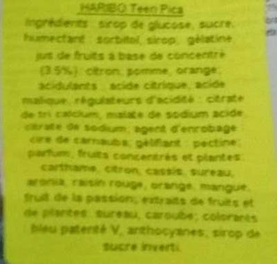 Teen p!ca - Ingredients