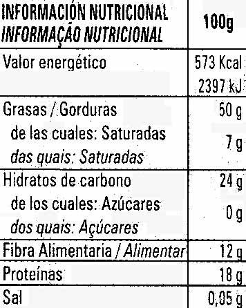 Semillas sésamo tostado ecológico - Informació nutricional - es