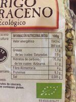 Trigo Sarraceno - Nutrition facts
