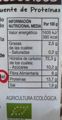 Copos espelta crujientes ecológicos - Informations nutritionnelles - es