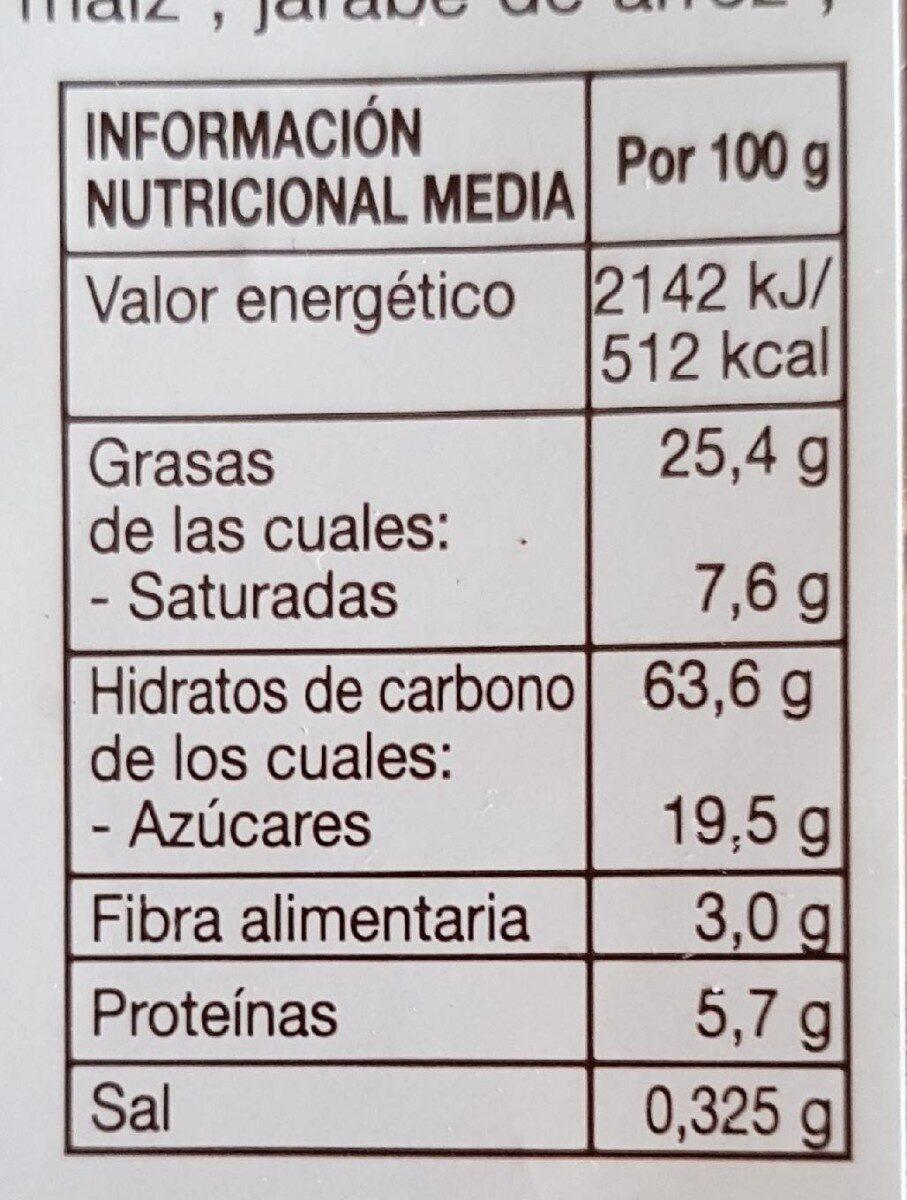 Galletas desayuno espelta ecológicas - Información nutricional - es