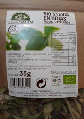 Bio stevia en hojas - Información nutricional - es