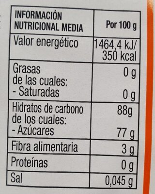 Jengibre Deshidratado - Nutrition facts
