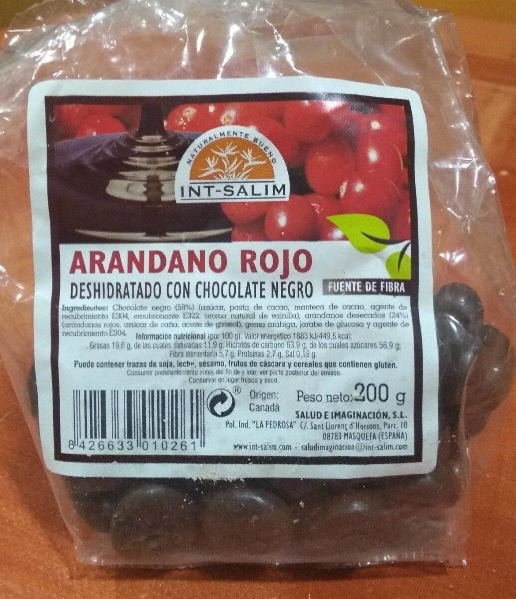 Arandano rojo deshidratado de chocolate negro - Product