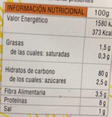 Cornflakes sin azucar - Informació nutricional