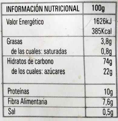 Choco Flares - Información nutricional - es