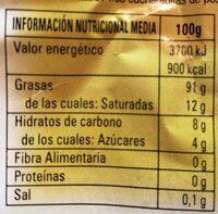 Lecitina de soja - Nutrition facts - es