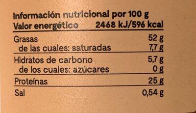 Tahín - Información nutricional