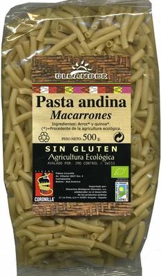 Pasta andina sin gluten - Produit - es