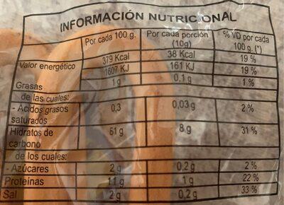 Rosquillas - Información nutricional