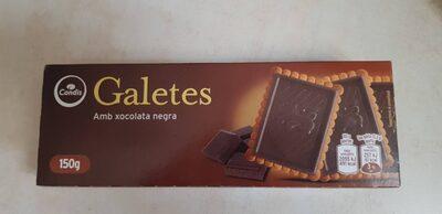 Galetes amb xocolata negra