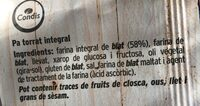 Pa Torrat Condis Integral - Ingredients