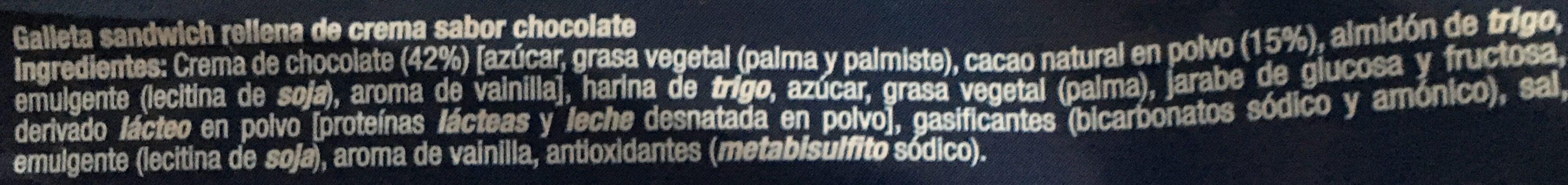 Galetes Condis A / Xocolata - Ingredients - es