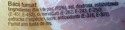 Bacó fumat - Ingredients - ca