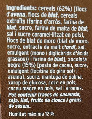 Cereals Condis Muesli Xoco - Ingredients