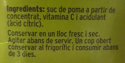 Suc Poma - Ingrédients