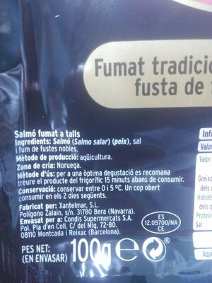 Salmó fumat - Ingredientes - es