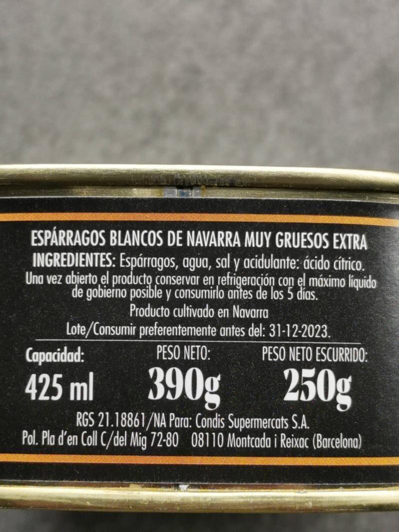 Espárragos blancos - Ingredients - es