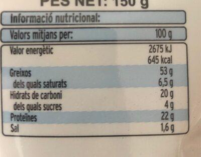 Festuc - Información nutricional